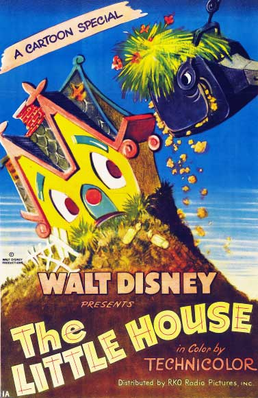 L'affiche du film A The Little House - © Walt Disney - 1952