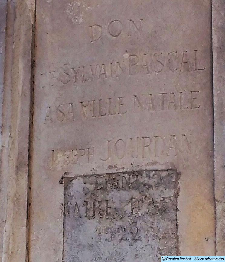 L'inscription mentionnant Sylvain Pascal