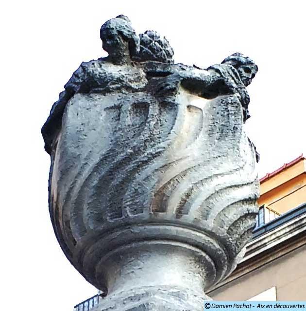 Le sommet de la fontaine Pascal