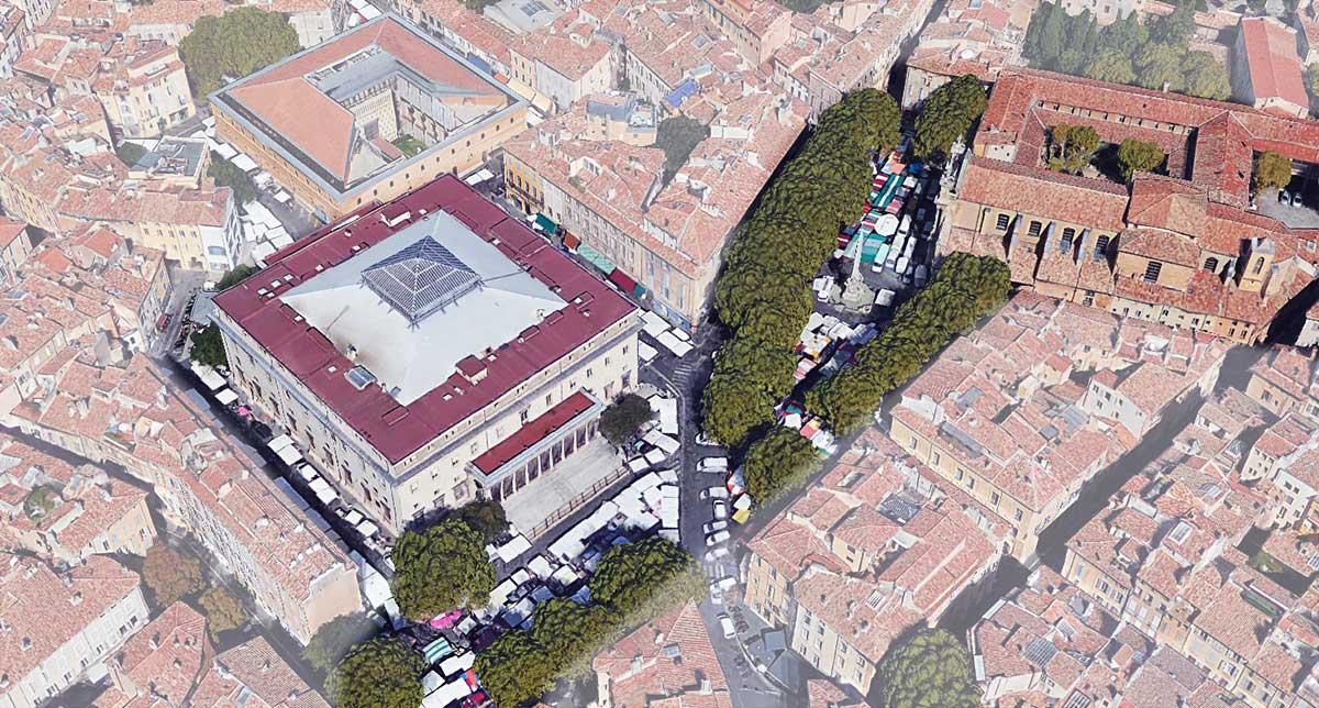 Le quartier de nos jours - Photo : © Google Earth