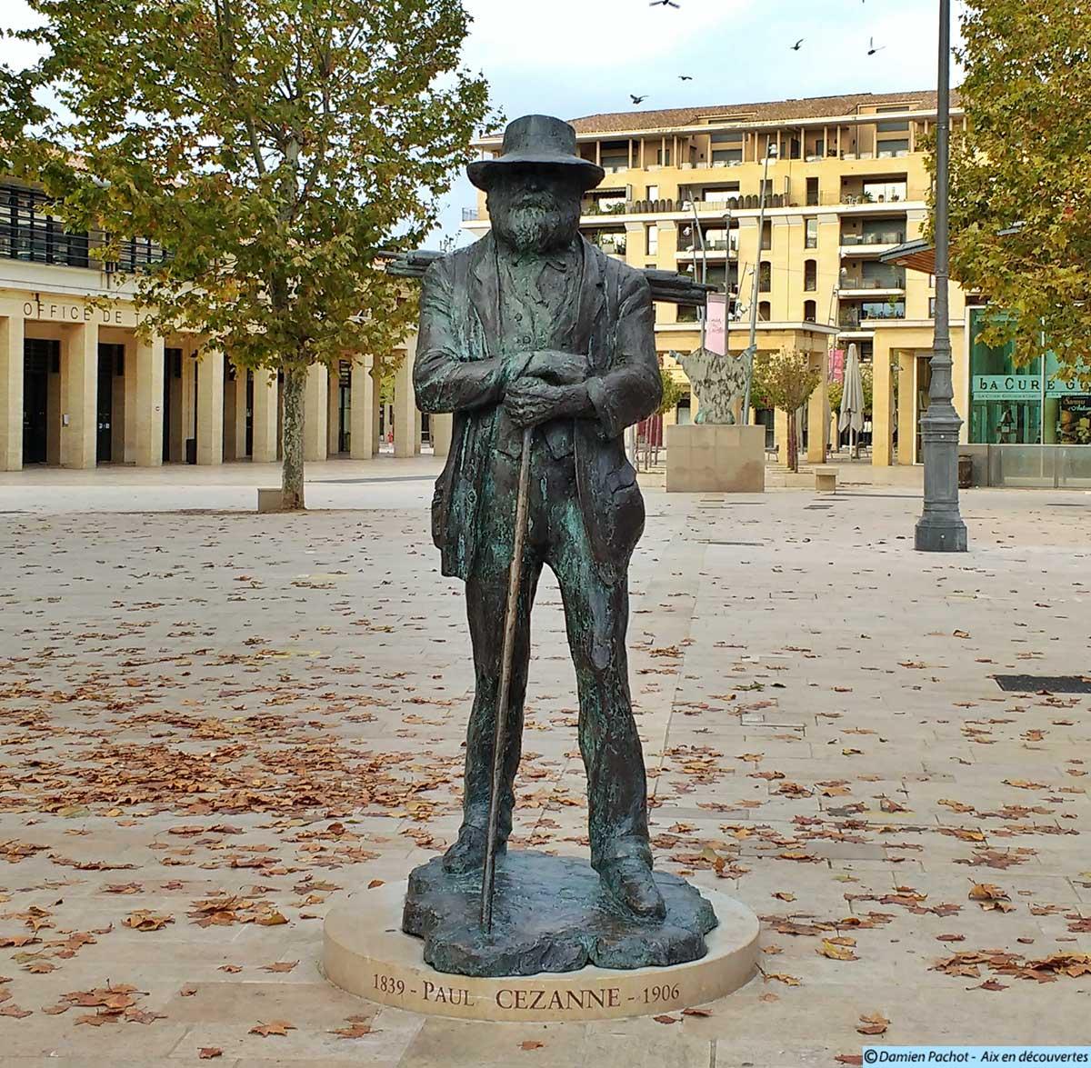 La statue de Paul Cézanne élevée en 2006