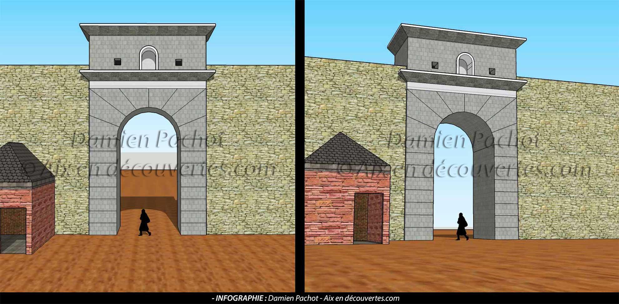 L'ancienne porte Valois ou Villeverte