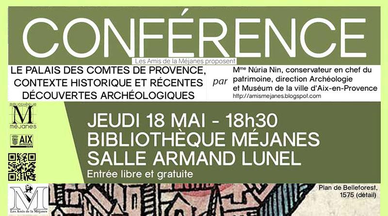 Conférence «Le palais des comtes de Provence…» par Nùria Nin le 18 mai à la Méjanes