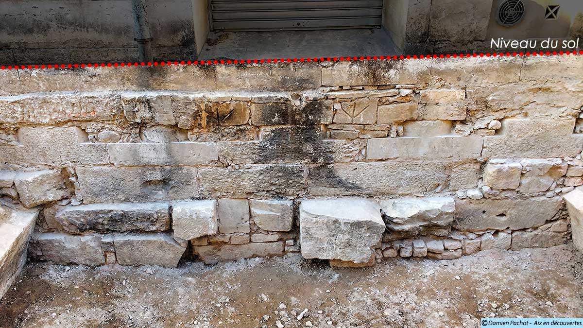 Les fondations du palais de justice mises au jour