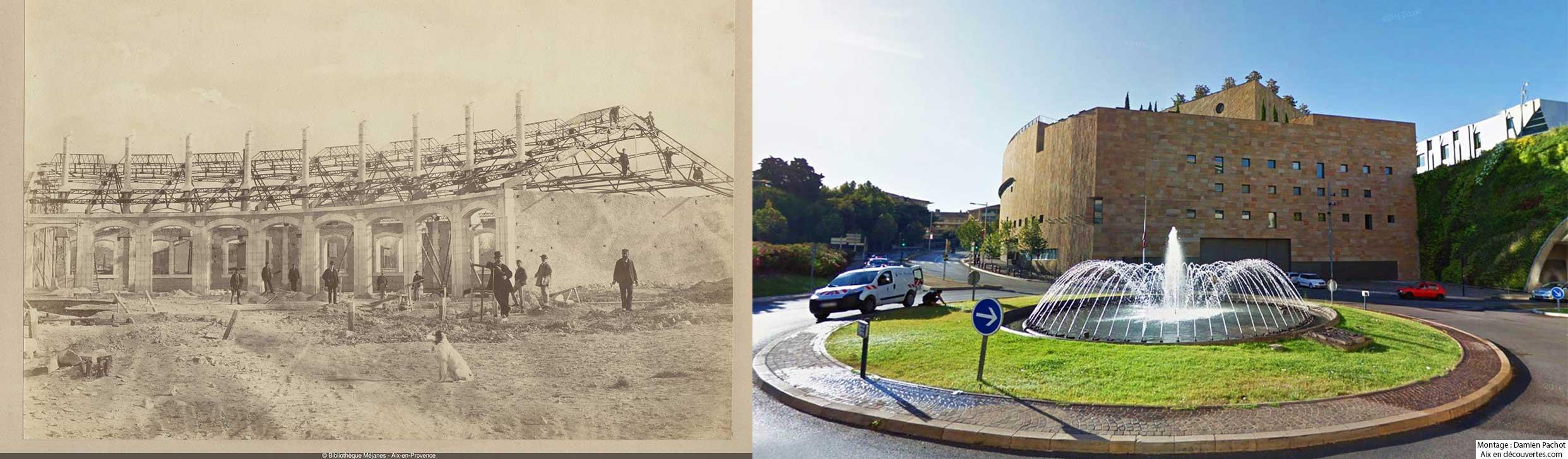 L'emplacement de l'ancienne rotonde des machines aujourd'hui occupé par le G.T.P. - - Claude Gondran - Bibliothèque Méjanes, Aix-en-Provence, Cote : PHO. GON. (3), 132