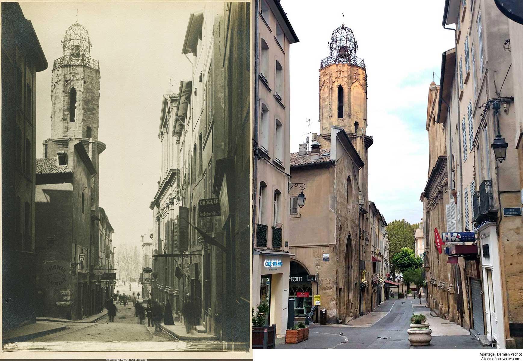 La rue Espariat et l'ancien clocher du couvent des Augustins
