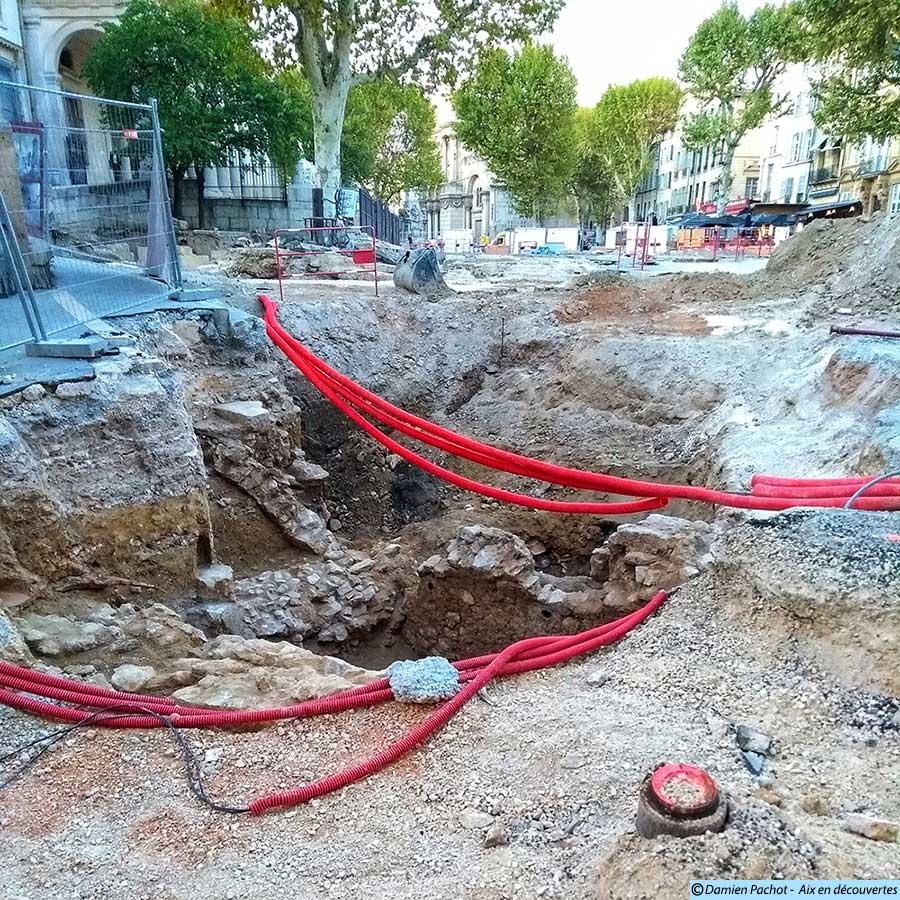 L'état des fouilles près du passage Agard le 21 septembre 2017