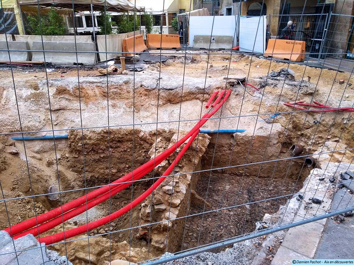 Les fouilles à deux pas du passage Agard on révélé de nouveaux vestiges