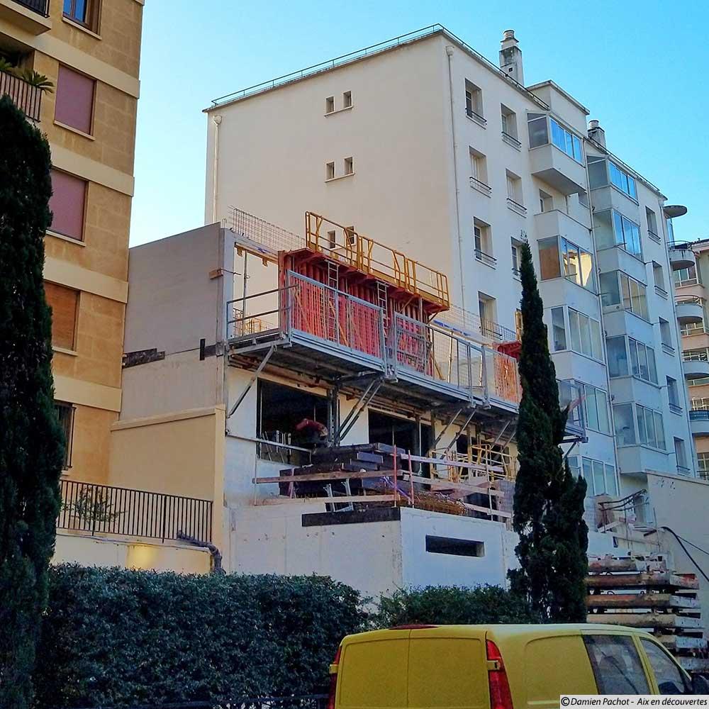 Le chantier qui succède à la maison du 11 avenue des Belges - Photo prise le 6 décembre 218