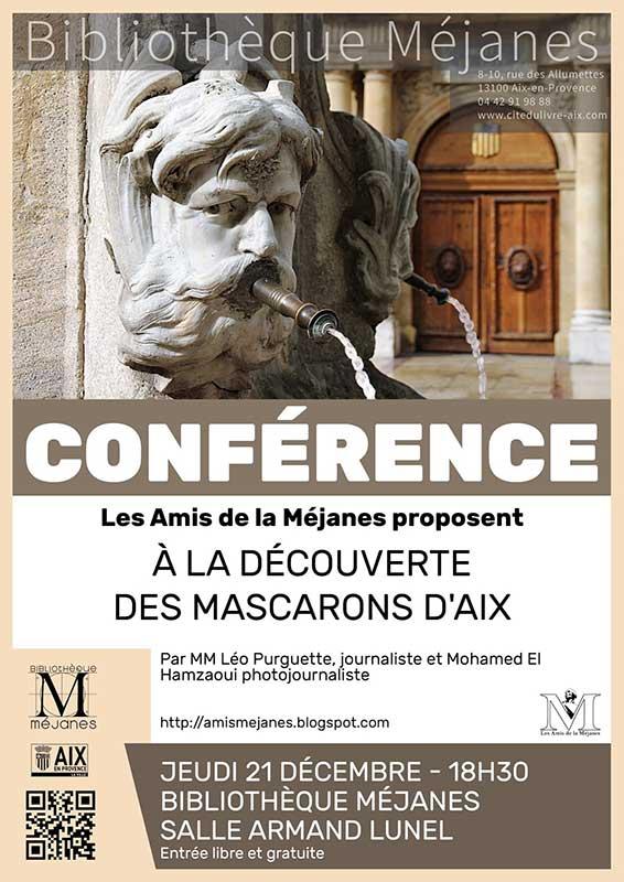 conference amis mejanes mascarons decembre 2017
