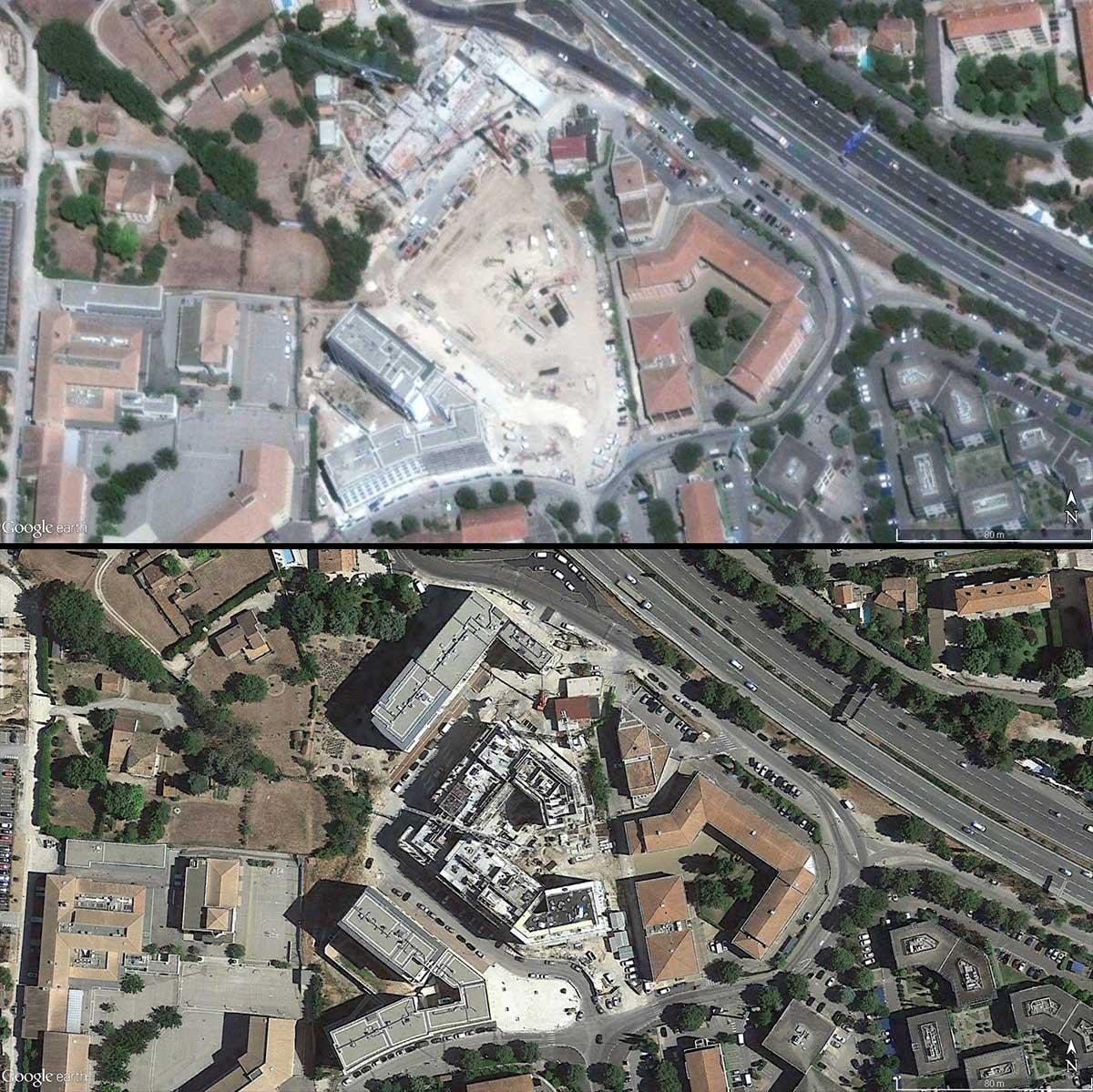 Le chantier de la Beauvalle de 2016 à 2017