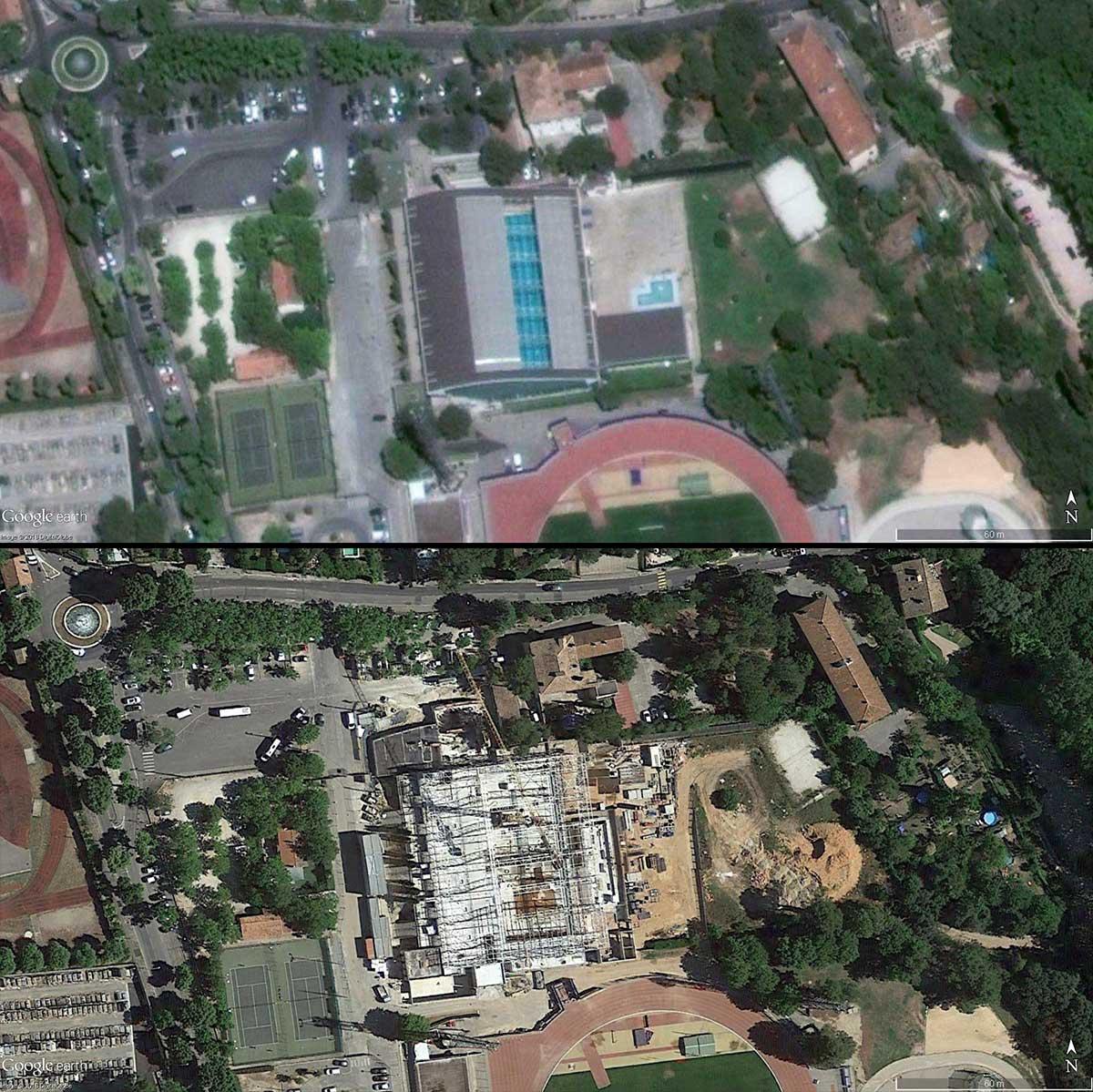 La piscine Yves Blanc de 2016 à 2017