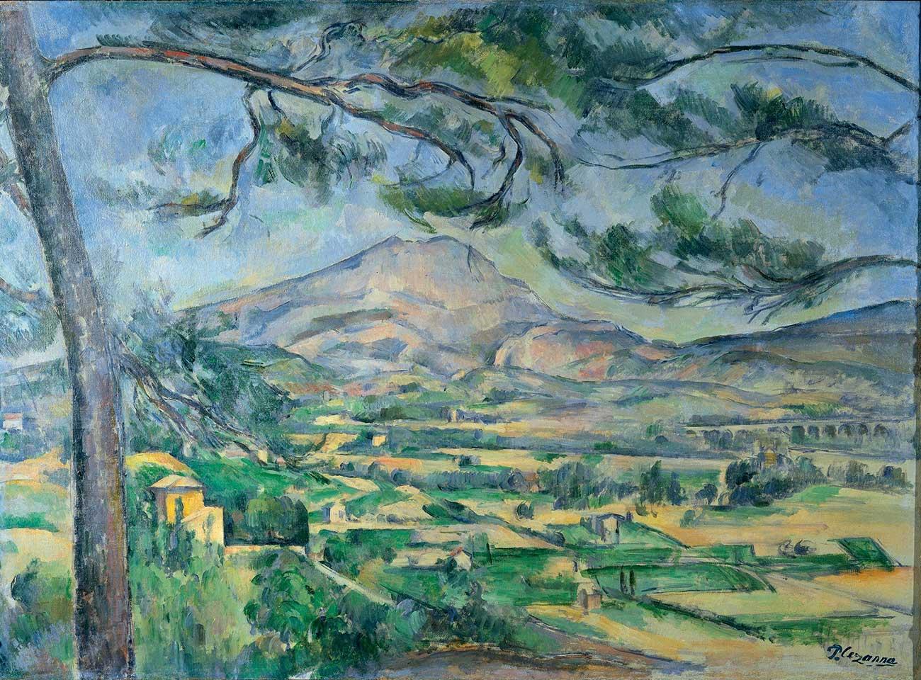 Paul Cezanne : La Sainte Victoire au grand pin (1885-87) - Exposée en 1895 lors de l'exposition des Amis des Arts - Offerte à Joachim Gasquet