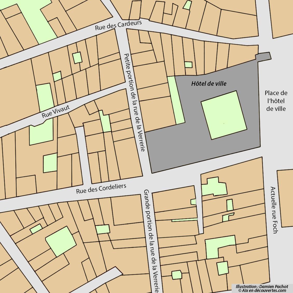 L'état du quartier au début du XIXe siècle (extrait cadastre 1828)