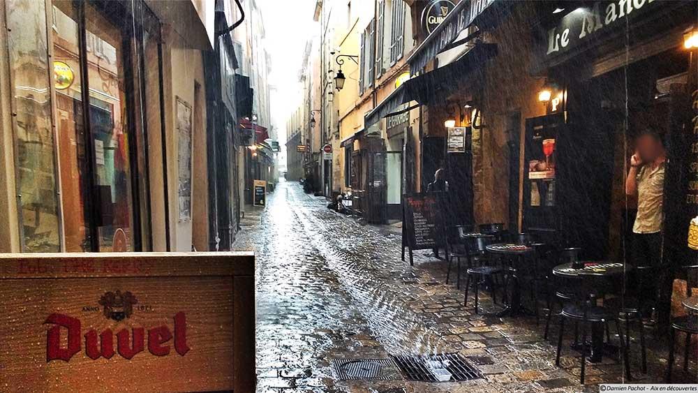La rue de la Verrerie (sous la pluie et oui !)