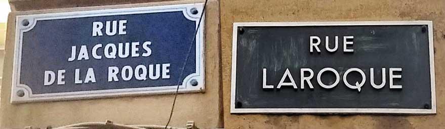 Fut un temps ou la similitude entre ces noms de rues a causé quelques soucis aux gens