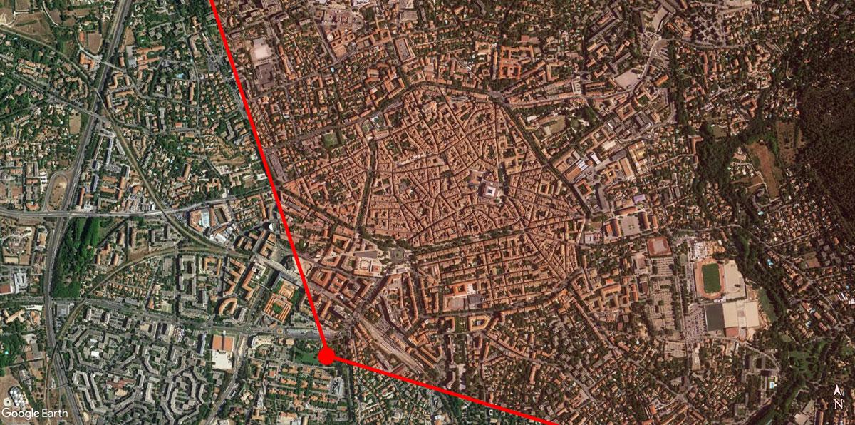 L'ange couvert par le panorama d'Aix au XIXe siècle