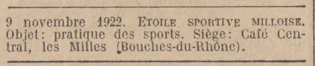 L'inscription au Journal Officiel de l'E.S.M.