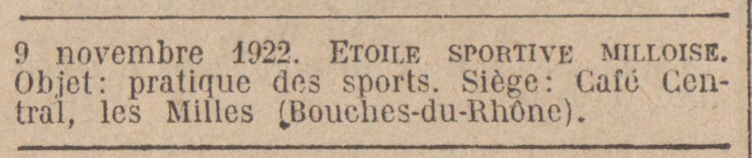L'inscription au Journal Officiel de l'E.S.M.