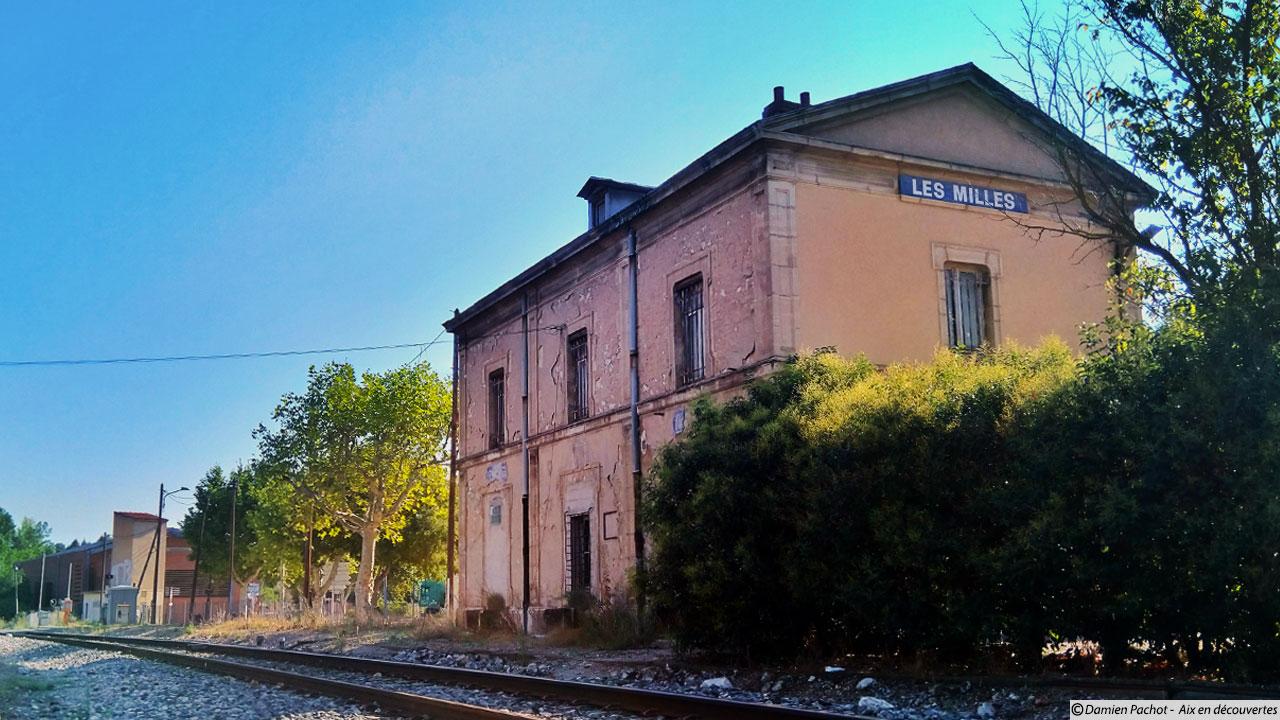 La gare des Milles et son ancien quai