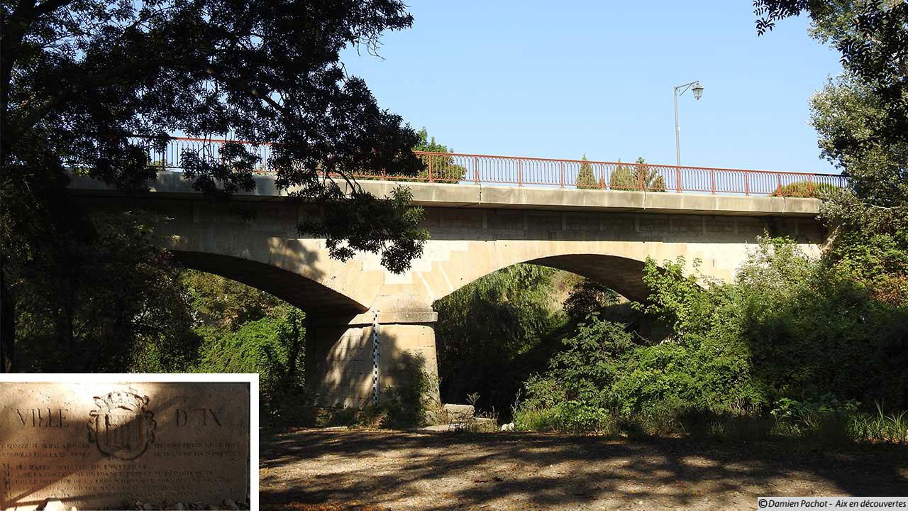 Le pont routier (avenue Marcel Roche) au dessus de l'Arc aux Milles