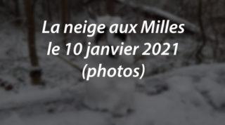 La neige aux Milles le 10 janvier 2021 (photos)